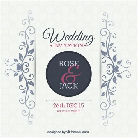 Ornamental wedding invitation Vector   Free Download