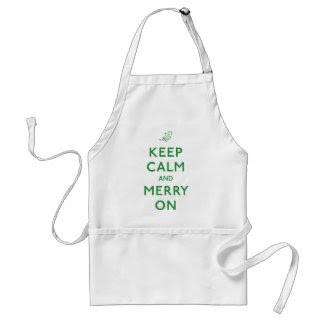Keep Calm and Merry On Apron