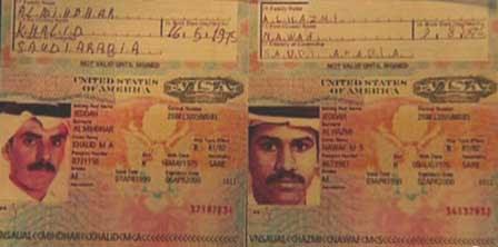 Photo of al-Mihdar and al-Hazmi Visas