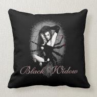 Black Widow Pillow throwpillow