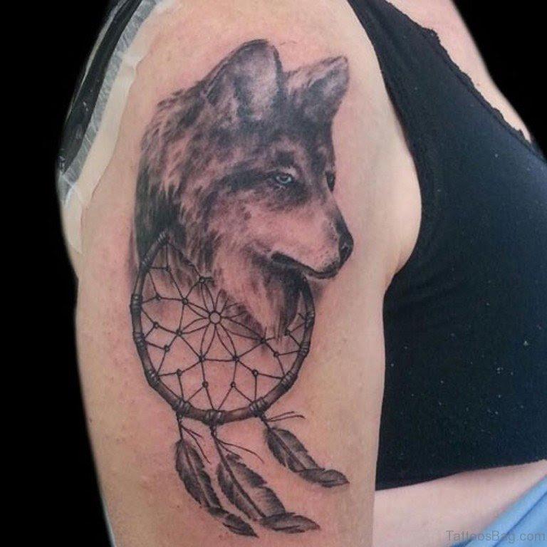37 Marvelous Dream Catcher Tattoos On Shoulder