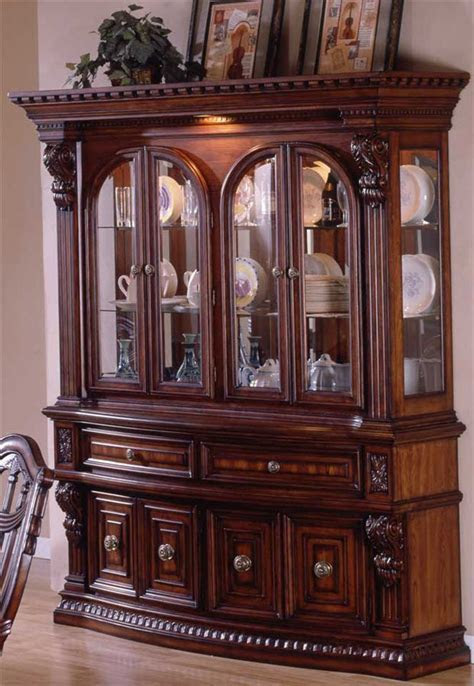 Estates II ? China Cabinet with Dental Molding Accents   China cabinets