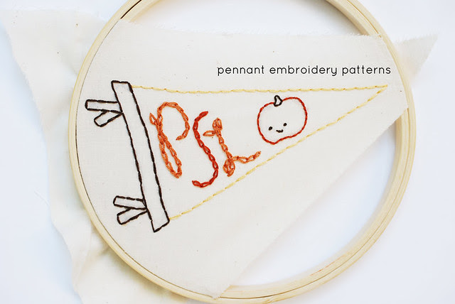 Pennant Embroidery Pattern