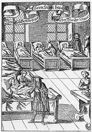 A physician visiting the sick in a hospital, G...