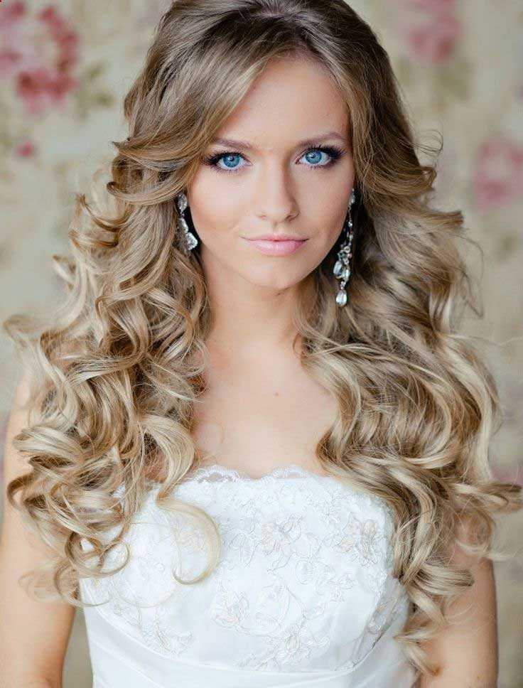 Simple Long Bridal Hairstyles For Curly Hair - Love and ...