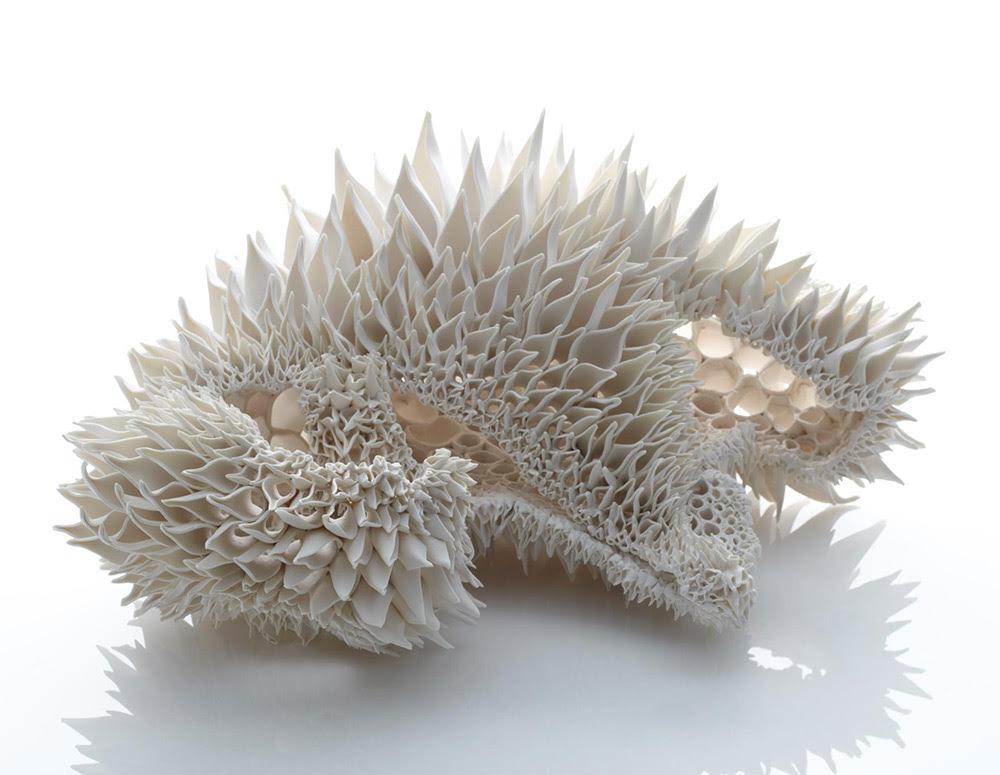 Hand Built Porcelain Sculptures by Nuala ODonovan Mimic Fractal Patterns Found in Nature sculpture porcelain fractals ceramics