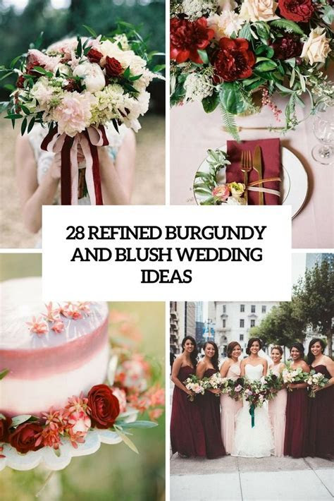 maroon, plum,and blush bridal shower decorating ideas