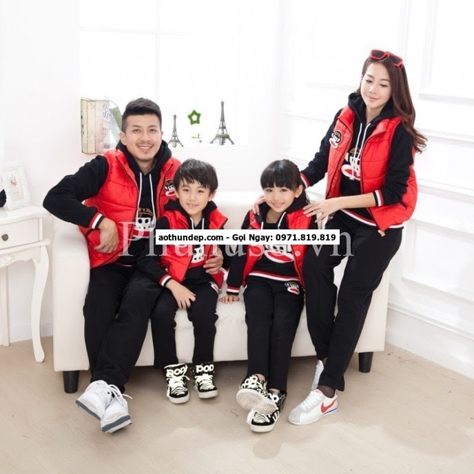 áo đồng phục gia đình hàn quốc
