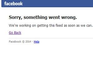 Facebook ficou fora do ar para manutenção (Foto: Reprodução/Facebook)