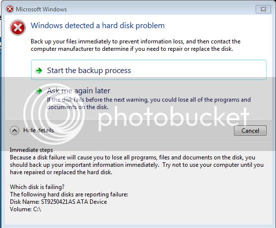 failure photo: Hard Disc Failure HDDfailed.png