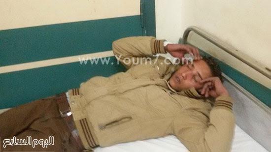 المصابين فى حادث انقلاب قطار ركاب بنى سويف (7)