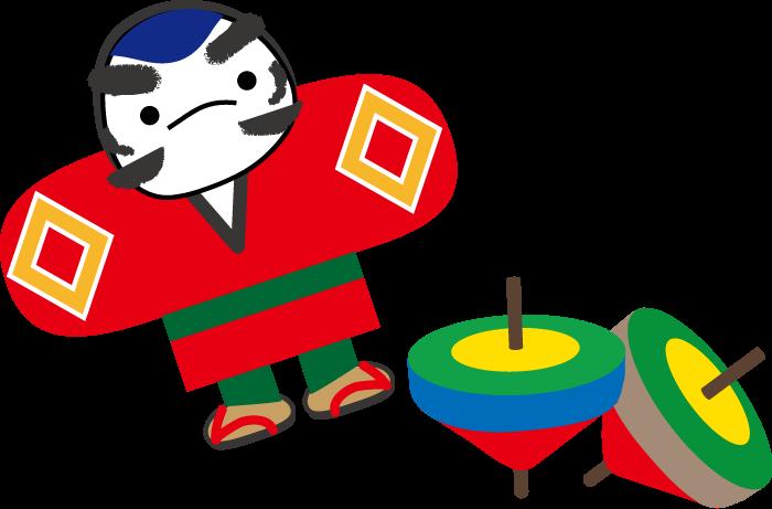 年賀状イラスト凧と富士山無料イラスト