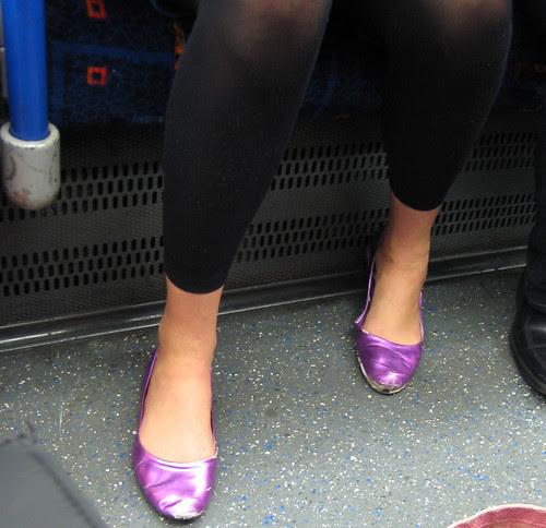 Shiny Shoes on the Tube