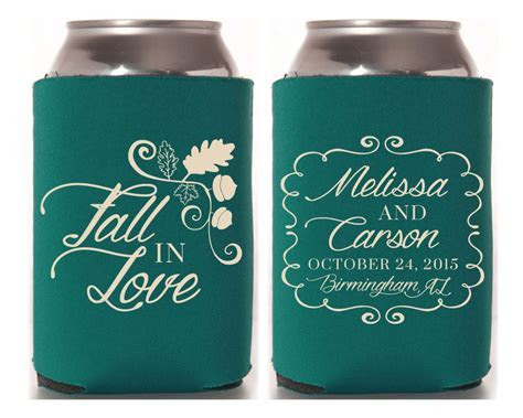 Personalized Can Cooler, Wedding Favors, Wedding Can