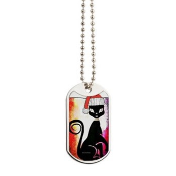 Santa Diva Cat Dog Tags