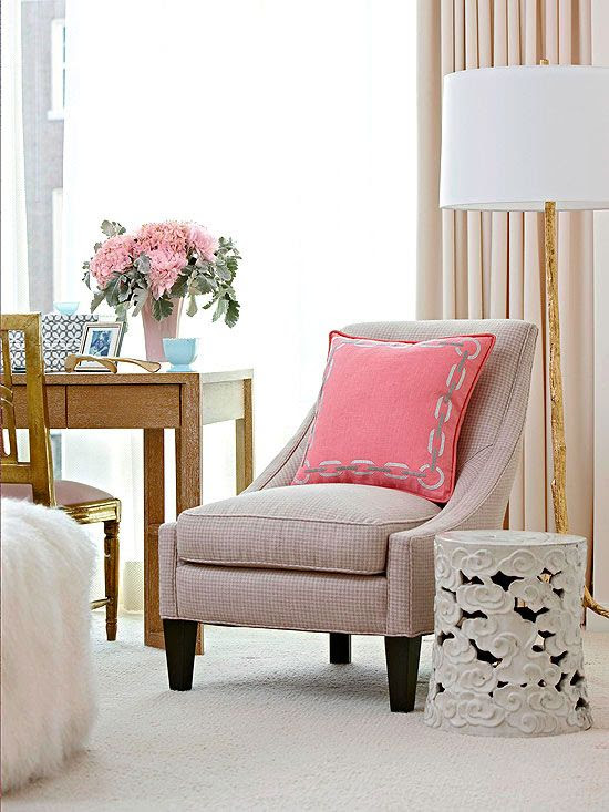 For a stylish end table, opt for a decorative garden stool! See more inexpensive decorating ideas: http://www.bhg.com/decorating/budget-decorating/cheap/decorate-with-what-you-have/?socsrc=bhgpin042112gardenstool=2