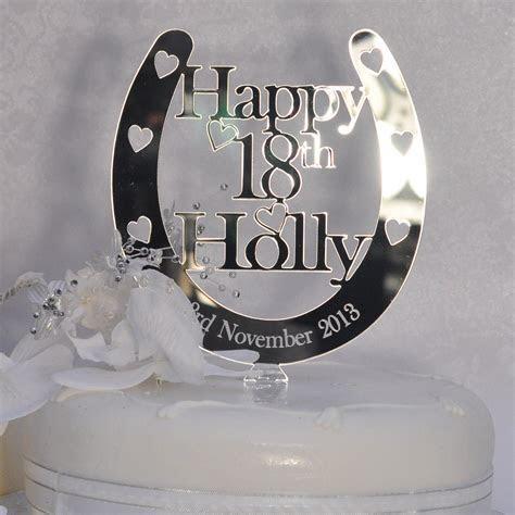 Birthday Horseshoe Cake Topper Personalised ANY NAME & AGE