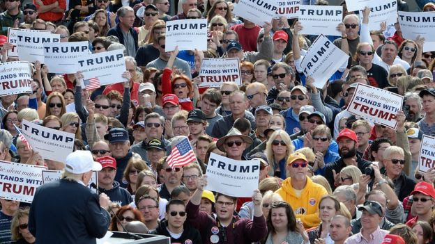 Trump addresses supporters in Norfolk, Virginia