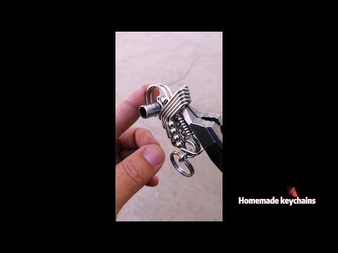 How to make keychains with wire wrapped?