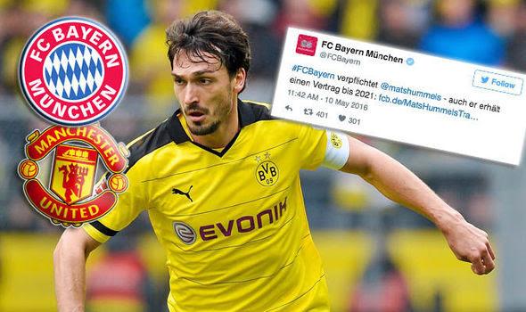 Confirmed: Mats Hummels signs for Bayern Munich over ...