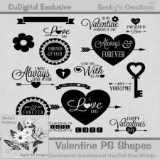 Valentine PS/PSE Shapes - Exclusive - Beckys Creations