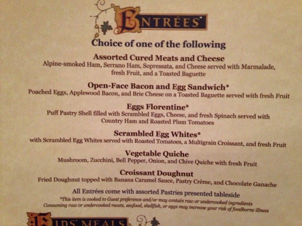Image result for be our guest breakfast menu