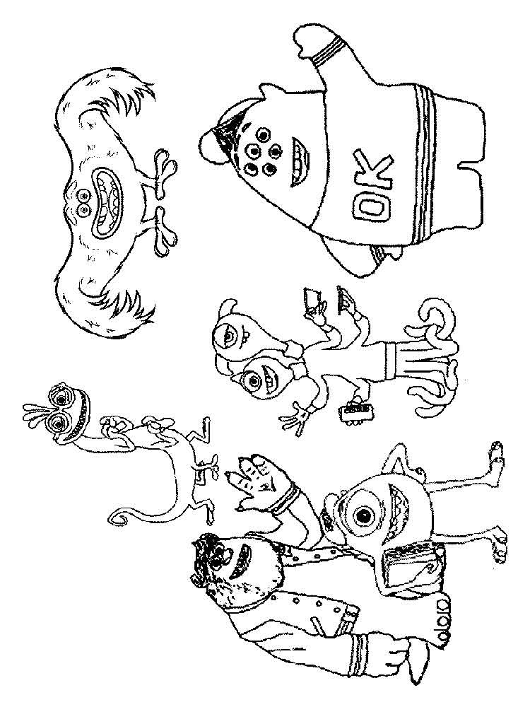Monsters, inc. coloring pages. Download and print Monsters ...