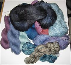 Stitches West 2008, yarn stash