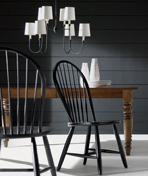 That's it....I'm painting my kitchen chairs black.