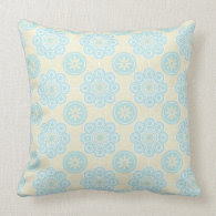 Sweet Blue Floral Pillow