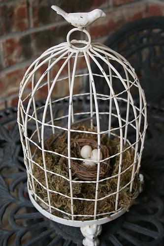 Spring bird cage