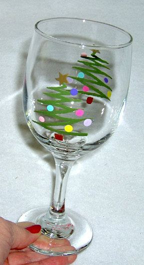 Dec 21 Holiday Wine Glass Painting Lets Paint