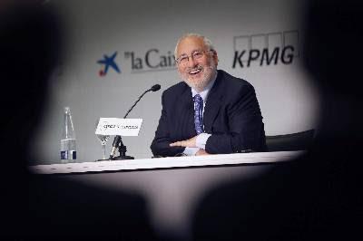 El Premio Nobel Jospeh Stglitz, en un reciente acto en España.