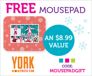 Free Custom Photo Mousepad - An $8.99 Value!