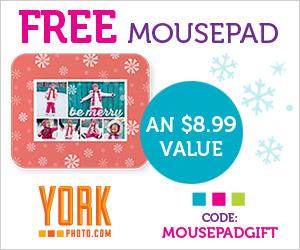 Free Custom Photo Mousepad - An $8.99 Value!
