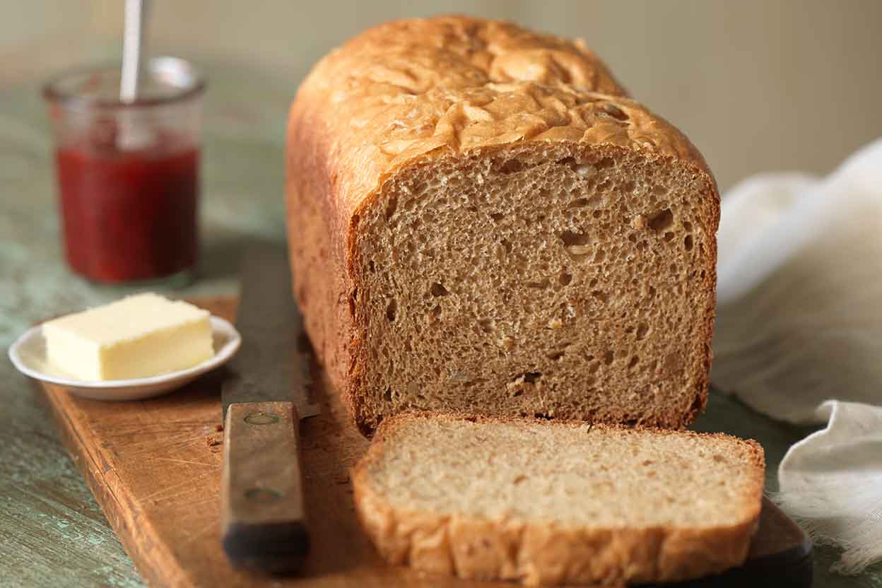100% Whole Wheat Bread for the Bread Machine Recipe | King ...