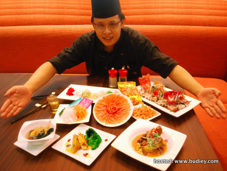 CNY (Chef Ong with his creations)