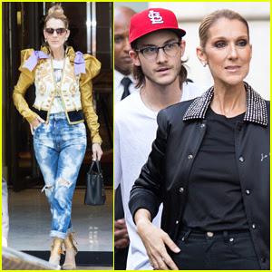 Celine Dion Grabs Dinner with Son Rene-Charles Angelil in Paris