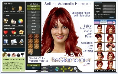 Virtual Bangs / Fringe Hairstyles  Upload Your Photo, Try Bangs Online  Haircuts  Color Ideas App