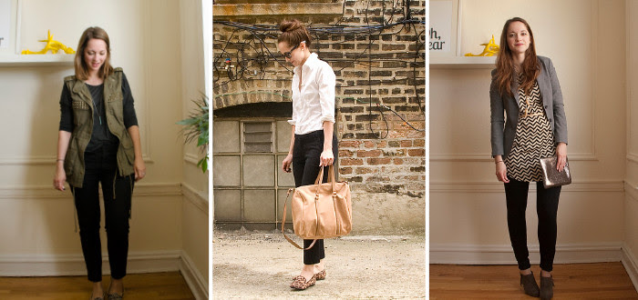 how to wear black pants to work, work outfit ideas, black pants, remix, three ways to wear, ootd, blogggggg