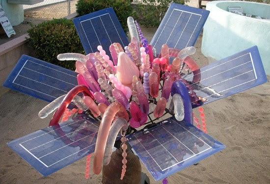 "Did you know that pvc ""jelly"" dildos and buttplugs can be used to harness solar energy? When attached a grounded metallic grid system, pvc jelly generates 75% the solar power of a normal photovoltaic cell of the same surface area.    [source]"