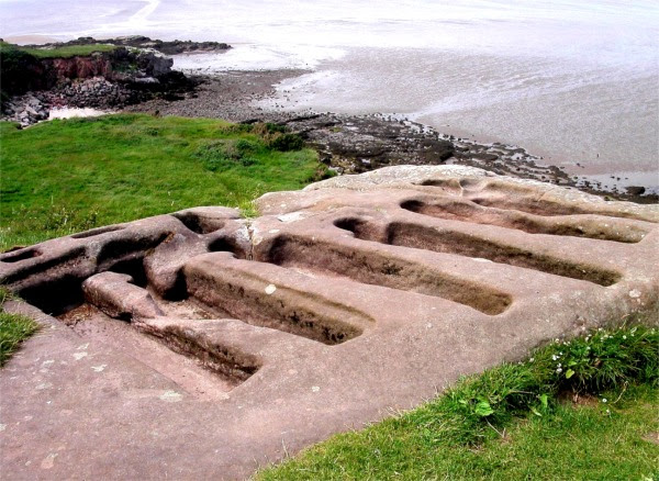 File:Ancient stone graves at St. Patrick's Chapel, Heysham - geograph.org.uk - 333469.jpg