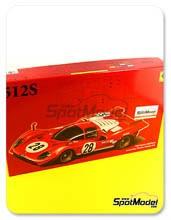 Kit 1/24 Fujimi - Ferrari 512S Short Tail - Cola corta Scuderia Filipinetti - Nº 4, 23, 28 - maqueta de plástico