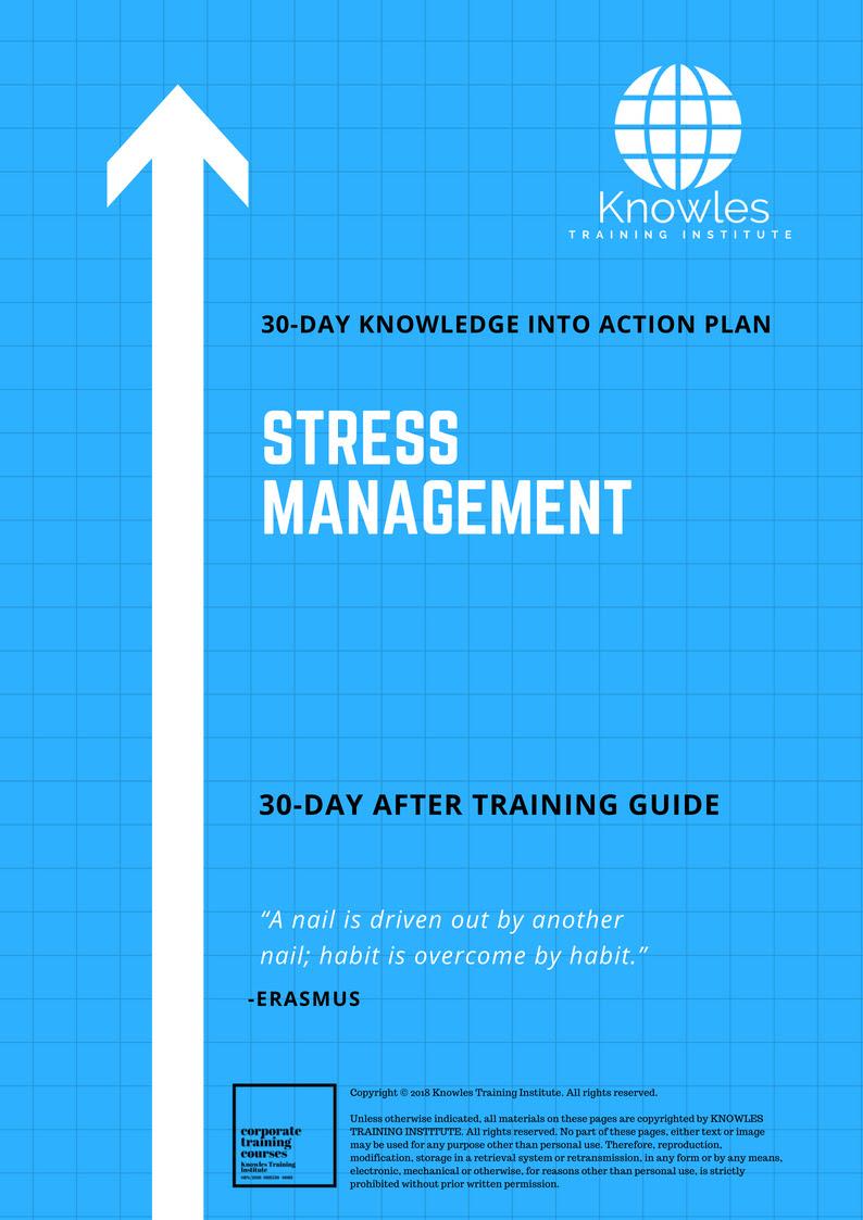 Stress Management Workshop Singapore. Stress Management Course