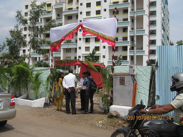 Site of Kishor Developers' Bhagwati Floriana 1 BHK 2 BHK Flats behind Maratha Mandir at Bavdhan Khurd in PMC Pune 411 021