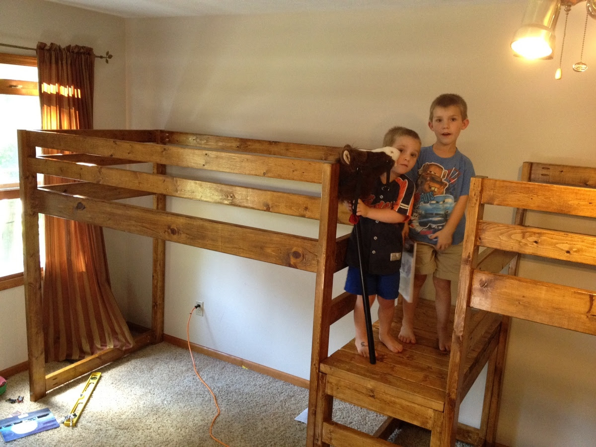 Double Wide Camp Loft Bed! | Do It Yourself Home Projects from Ana ...