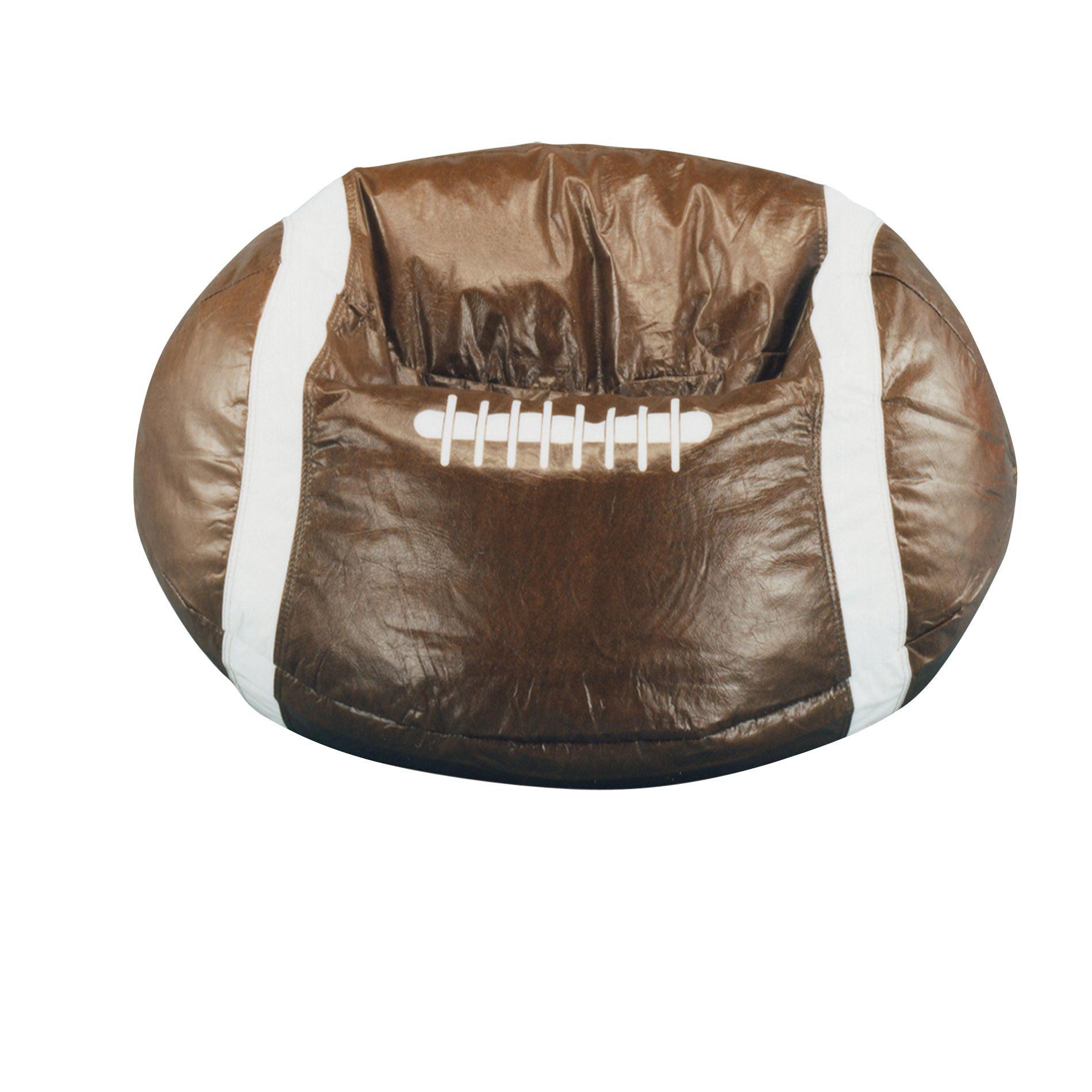 Bean Bag Factory Brown Football Bean Bag Chair Cover