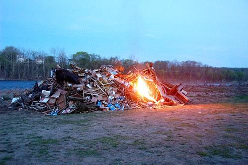 The bonfire gets lit