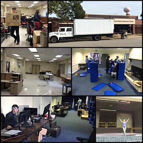 Moving Day! The Autonomy Incubator relocated to the former Reid Conference Center (b1222) today. I still can't believe it…