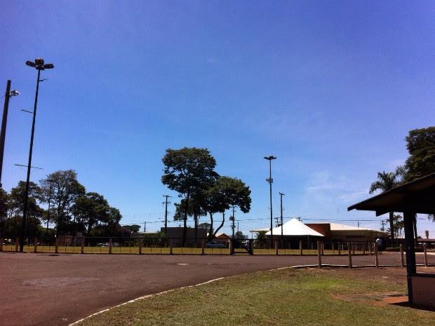 Parque de Exposições Ney Braga, em Londrina (Foto: Ticianna Mujalli/RPC)